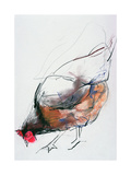 Feeding Hen, Trasierra, 1998 Giclee Print by Mark Adlington