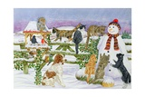 The Snowman and His Friends Giclee Print by Catherine Bradbury