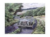 Jaguar Xk150 Cruising Giclee Print by Clive Metcalfe
