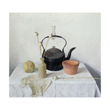 Kettle, Poppyheads and Gourd, Still Life, 1990 Giclee Print by Arthur Easton