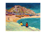 Hastings: Beach Scene Giclee Print by Robert Tyndall