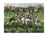 A Rugby Match, 1989 Giclee Print by Gareth Lloyd Ball