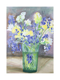 Bluebells and Yellow Flowers, 1994 Giclee Print by Sophia Elliot