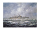 H.M.S. Exeter, Type 42 (Batch 2) Destroyer, 1990 Giclee Print by Richard Willis