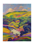 View of the Arun, Sussex Giclee Print by Robert Tyndall