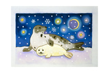 Cosmic Seals, 1997 Giclee Print by Cathy Baxter