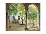 Shaded Courtyard, Vianna Palace, Cordoba Giclee Print by Timothy Easton