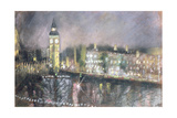 Big Ben, from the South Bank, 1995 Giclee Print by Sophia Elliot