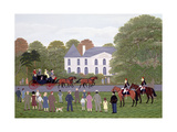 Les Drags - Longchamps and the Guard Republican Giclee Print by Vincent Haddelsey