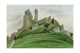Corfe Castle Giclee Print by Osmund Caine