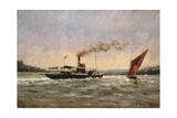 Past on the Medway Giclee Print by Vic Trevett