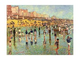 Passing Time on Brighton Beach Giclee Print by Robert Tyndall