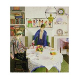 Lunch, 1918 Giclee Print by Harold Harvey