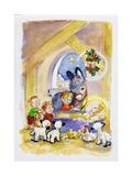 Away in a Manger, 1996 Giclée-tryk af Diane Matthes