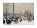 John Sutton - Winter's Mantle, Trafalgar Square, London Digitálně vytištěná reprodukce