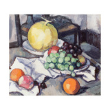 Still Life with Melons and Grapes Giclee Print by Samuel John Peploe