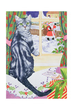 A Christmas Visitor for Toby Giclee Print by Suzanne Bailey