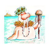 Walrus Sea Queen Giclee Print by Maylee Christie