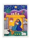 A Farmyard Nativity, 1996 Giclée-tryk af Cathy Baxter