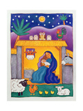 A Farmyard Nativity, 1996 Giclee Print by Cathy Baxter