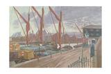 Ipswich Docks Giclee Print by John Northcote Nash