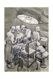 The Operation Theatre, 1966 Giclee Print by Osmund Caine