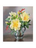 Yellow Roses in a Tankard Giclee Print by Albert Williams