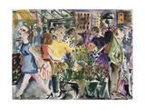 Market, 1998 Giclee Print by Hilary Rosen