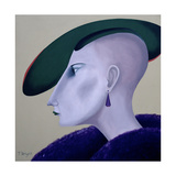 Women in Profile Series, No. 3, 1998 Giclee Print by John Wright