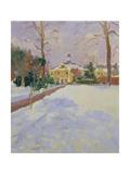 Ravenscourt Park under Snow Giclee Print by Sarah Butterfield