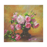 Roses of Sweet Scent and Velvet Touch Giclee Print by Albert Williams