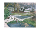 Frozen Ponds Giclee Print by John Northcote Nash
