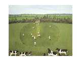 The Cricket Match Giclee Print by Maggie Rowe