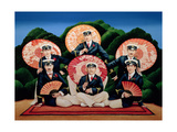 Sailors with Umbrellas, 1995 Giclee Print by Anthony Southcombe