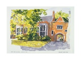 East Side, Old Hall, Lincoln's Inn, 1983 Giclee Print by Annabel Wilson