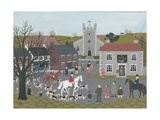 Setting Out from 'The Plough' Giclee Print by Vincent Haddelsey