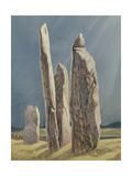 Tall Stones of Callanish, Isle of Lewis, 1986-7 Giclee Print by Evangeline Dickson