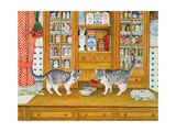 Dresser Cats Giclee Print by  Ditz