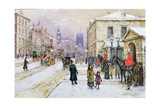 Winter's Mantle - Horse Guards', Whitehall, C.1890 Giclee Print by John Sutton