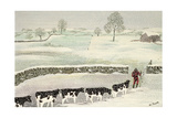 Cotswold: Winter Scene Giclee Print by Maggie Rowe