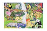Jungle Animals Reproduction procédé giclée par Tony Todd