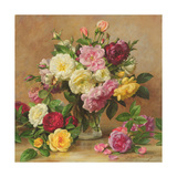 Old Fashioned Victorian Roses, 1995 Giclee Print by Albert Williams