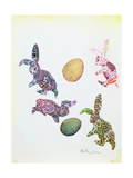 Easter Rabbits Giclee Print by George Adamson