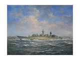 H.M.S. Chatham Type 22 (Batch 3) Frigate, 1996 Giclee Print by Richard Willis