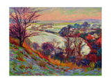 The Downs in Winter Giclee Print by Robert Tyndall