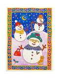 Snowmen in the Snow Giclee Print by Cathy Baxter