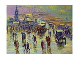 Brighton on a Rainy Day Giclee Print by Robert Tyndall
