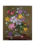 Summer Arrangement in a Glass Vase Giclee Print by Albert Williams
