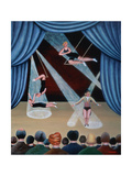 Circus Acrobats Giclee Print by Jerzy Marek