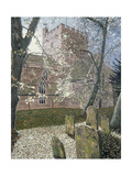 Brecon Cathedral, Autumn Day, 1992 Giclee Print by Huw S. Parsons